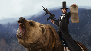 Abe Lincoln Riding a Grizzly by SharpWriter