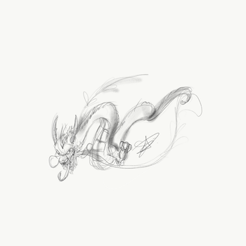 Sketchy Dragon by QwertyNerd