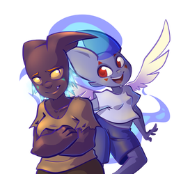 Soul Sisters (Redraw) by Wimawile
