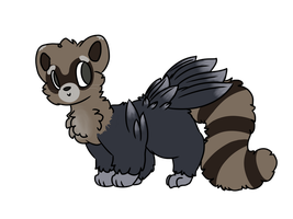 [CLOSED] Free Adopt | Raccoon Crow by Gr8gecko