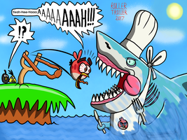 Angry Birds vs Hungry Shark by Mustache-Twirler