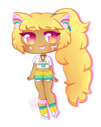 [ rainbow ears ] by hello-planet-chan