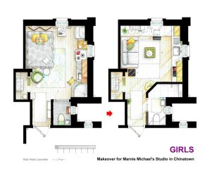 Makeover for Marnie Michael's estudio from GIRLS. by nikneuk