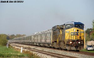 CSXT 9044 and 7661 lead Circus Train with Dragons by EternalFlame1891