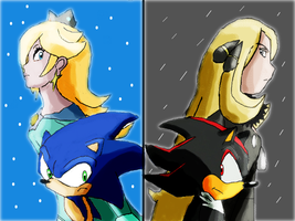 Rosalina Sonic and Cynthia Shadow- Rivalry by ToonEmpire24