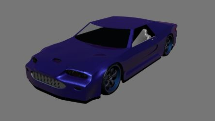 Blue Sports Car by SiathLinux