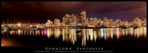Downtown Vancouver night shot by tt83x