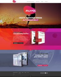 Web design: Muvee - home by VictoryDesign