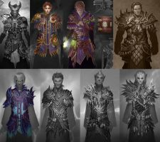 Neverwinter Armor Sets by CarmenSinek