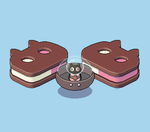 Steven Universe Cookie Cat Isometric Pixel Art by AdroitCell