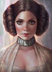 Princess Leia by serafleur