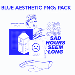 || BLUE AESTHETIC PNGs PACK || by RockingWithLights