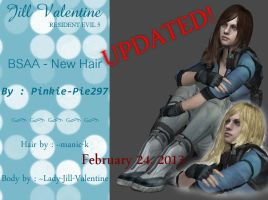 Jill Valentine (BSAA - New Hair) .:DL:. by Pinkie-Pie297