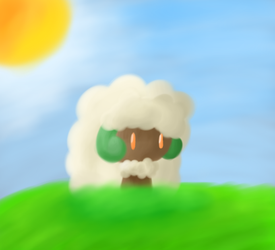 Whimsicott Painting by maplexsonic