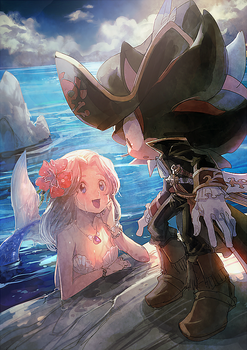 Pirate and mermaid by aoki6311