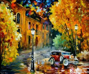 Town 1 by Leonid Afremov by Leonidafremov