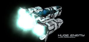 HUGE ENEMY - WORLDBREAKERS - KIBO MAINSHIP A by HugeEnemy