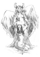 Angelus pencil (The Darkness) by ASMing