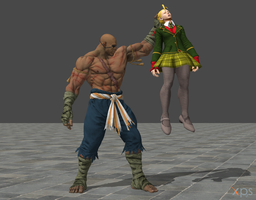 Street Fighter V Sagat pose animations by ysc976