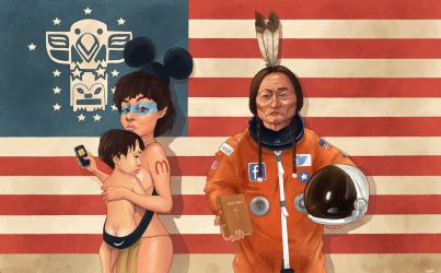 We're all living in Amerika by QuilesART