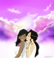 Korra x Asami: Violets by Chareon