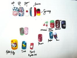 Nail art designs by Leangel-kun