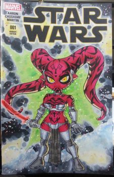 Star Wars #1, chibi Darth Talon by Pencilero