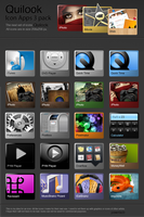 Quilook - 3 set apps icons by pawelacb