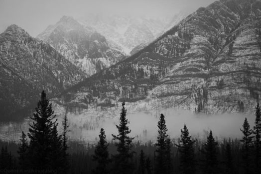 Black And White Mountains by WalkingCasino