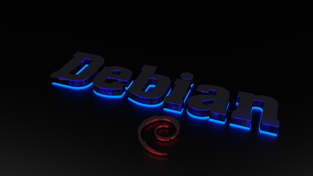 Debian Neon Linux Wallpaper by Lukazoid