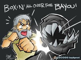 Boxing all over the bayou by lazytigerart