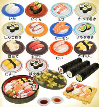 Sushi set pack! MMD download by Hack-Girl