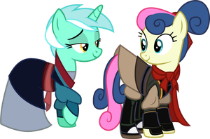 Lyra and Bon Bon as Mulan and Shang by CloudyGlow