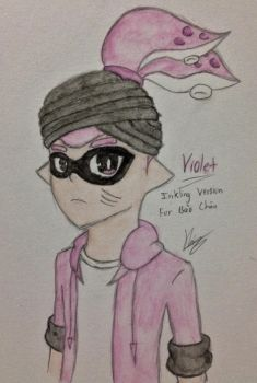 Violet as an inkling by Bladez102