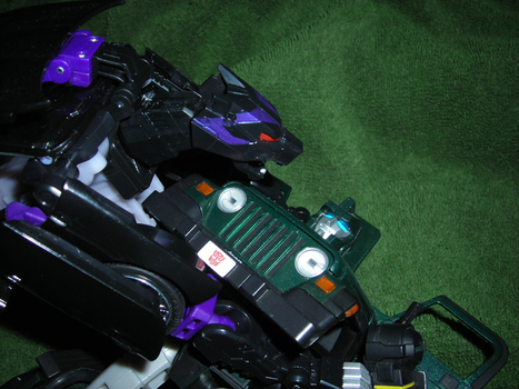Transformers Ravage and Hound by euphoricallydead