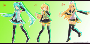 .::MMD::. Pose Pack DL by MMDMikuxLen