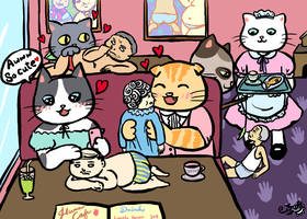 Cat Cafe by damnkidyk