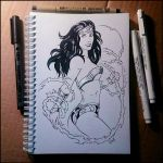 Sketchbook -  Wonder Woman (NSFW on Patreon) by Candra