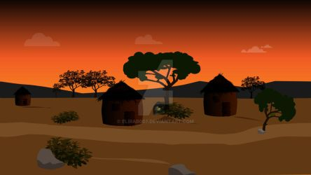 African Huts by elirab007