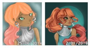 Iva Nor OC Redraw Comparison by hasphine