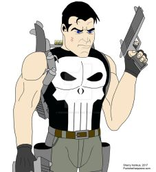 Punisher ready for battle! by OwossoHarpist