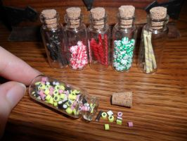 Bottles of Candies by kayanah