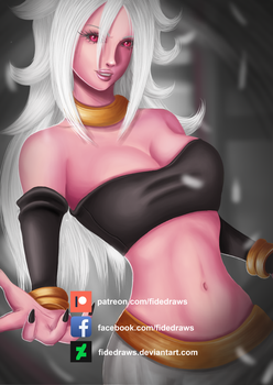 Android 21- NSFW Optional by FideDraws