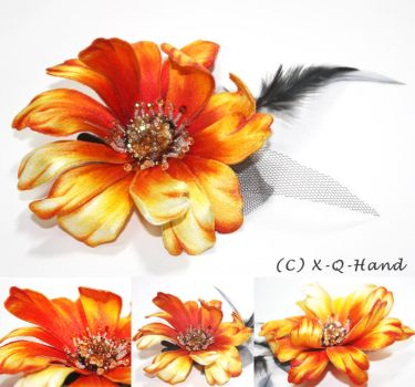 Fire Flower- Hand Embroidery by XQFashion