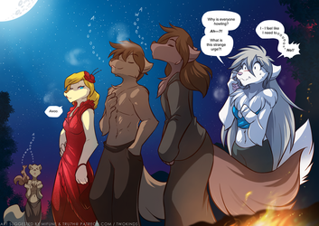 Group Howl by Twokinds