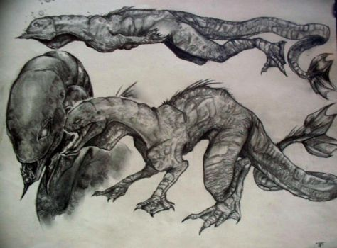 Creature design finished by crackcat911