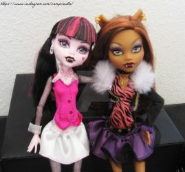Clawdeen and Drac by PoisonIgnorance