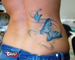BUTTERFLYS TATTOOS BUTTERFLY by magicstattoostudio