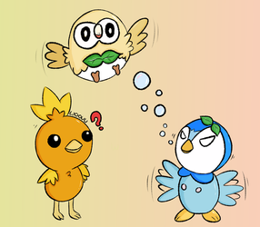 Torchic, Piplup or Rowlet? - Pokemon by Woouu