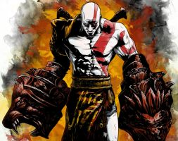 Kratos - Fists of Fury by DynamixINK